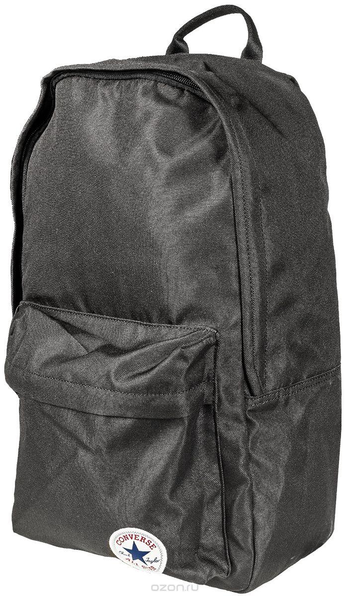 Рюкзак городской Converse Edc Poly Backpack, цвет: черный. 1000332900110003329001Рюкзак городской Converse выполнен из полиэстера. Модель с одним отделением застегивается на молнию. Передняя стенка оформлена объемным карманом на молнии. Внутри имеется вместительный карман. Рюкзак оснащен широкими регулируемыми по длине плечевыми лямками и петлей для подвешивания.