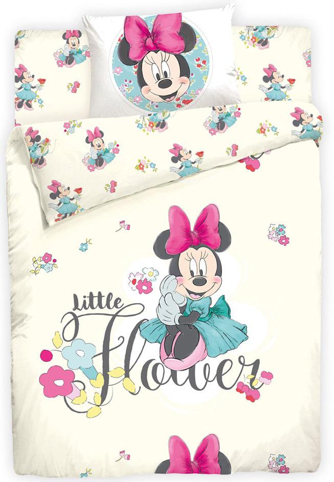 Комплект детского постельного белья Disney Minni Maus, 1,5-спальный, наволочка 70х70. 710715710715