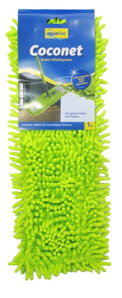 Насадка сменная Aqualine Coconet для плоской швабры9347Сменная насадка Aqualine Coconet подходит ко всем плоским швабрам с размером держателя 42 см. Она изготовлена из синельного микроволокна, которое впитывает в себя воду и грязь подобно губке. Высокая очищающая сила синельного микроволокна позволяет быстро и эффективно ухаживать за полами, используя при этом меньшее количество чистящих средств. Насадка прекрасно моет все виды гладких полов из плитки, паркета, ламината и камня. Насадку можно стирать при температуре 60°С. Характеристики: Материал: синельное микроволокно. Размер насадки: 40 см х 14 см. Рекомендуемая длина держателя: 42 см. Производитель: Германия. Артикул: 9347. Уважаемые клиенты! Обращаем ваше внимание на возможные изменения в дизайне упаковки. Качественные характеристики товара остаются неизменными. Поставка осуществляется в зависимости от наличия на складе.