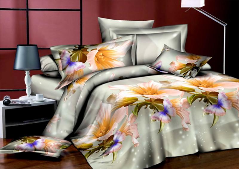 Комплект белья ЭГО Симфония, 2-спальный, наволочки 70x70Э-2041-02Комплект белья ЭГО выполнен из полисатина (50% хлопка, 50% полиэстера). Комплект состоит из пододеяльника, простыни и двух наволочек. Постельное белье имеет изысканный внешний вид и яркую цветовую гамму. Гладкая структура делает ткань приятной на ощупь, мягкой и нежной, при этом она прочная и хорошо сохраняет форму. Ткань легко гладится, не линяет и не садится. Приобретая комплект постельного белья ЭГО, вы можете быть уверенны в том, что покупка доставит вам и вашим близким удовольствие и подарит максимальный комфорт.
