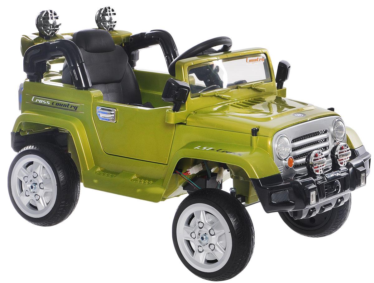 1TOY Электромобиль Джип цвет зеленый электромобиль мастер джип со склада