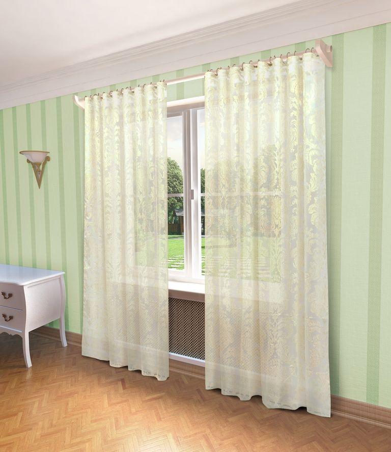 Тюль Sanpa Home Collection Рейна, на ленте, цвет: бежевый, высота 280 смHP4293/11/1E Рейна бежев, , 300*280 см