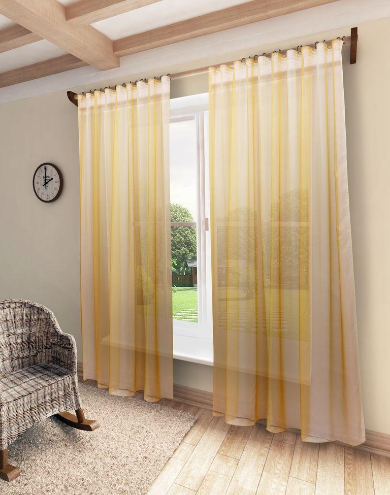 Тюль Sanpa Home Collection Мери, на ленте, цвет: персиковый, высота 280 смHP10001/32/1E Мери светло-персик, , 300*280 см