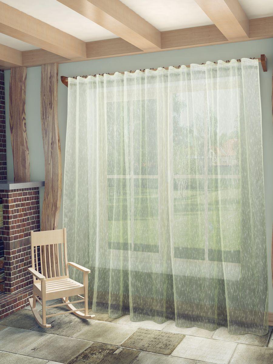 Тюль Sanpa Home Collection Вивьен, на ленте, цвет: салатовый, высота 280 смHP7023/44/1E Вивьен салатовый, , 300*280 см
