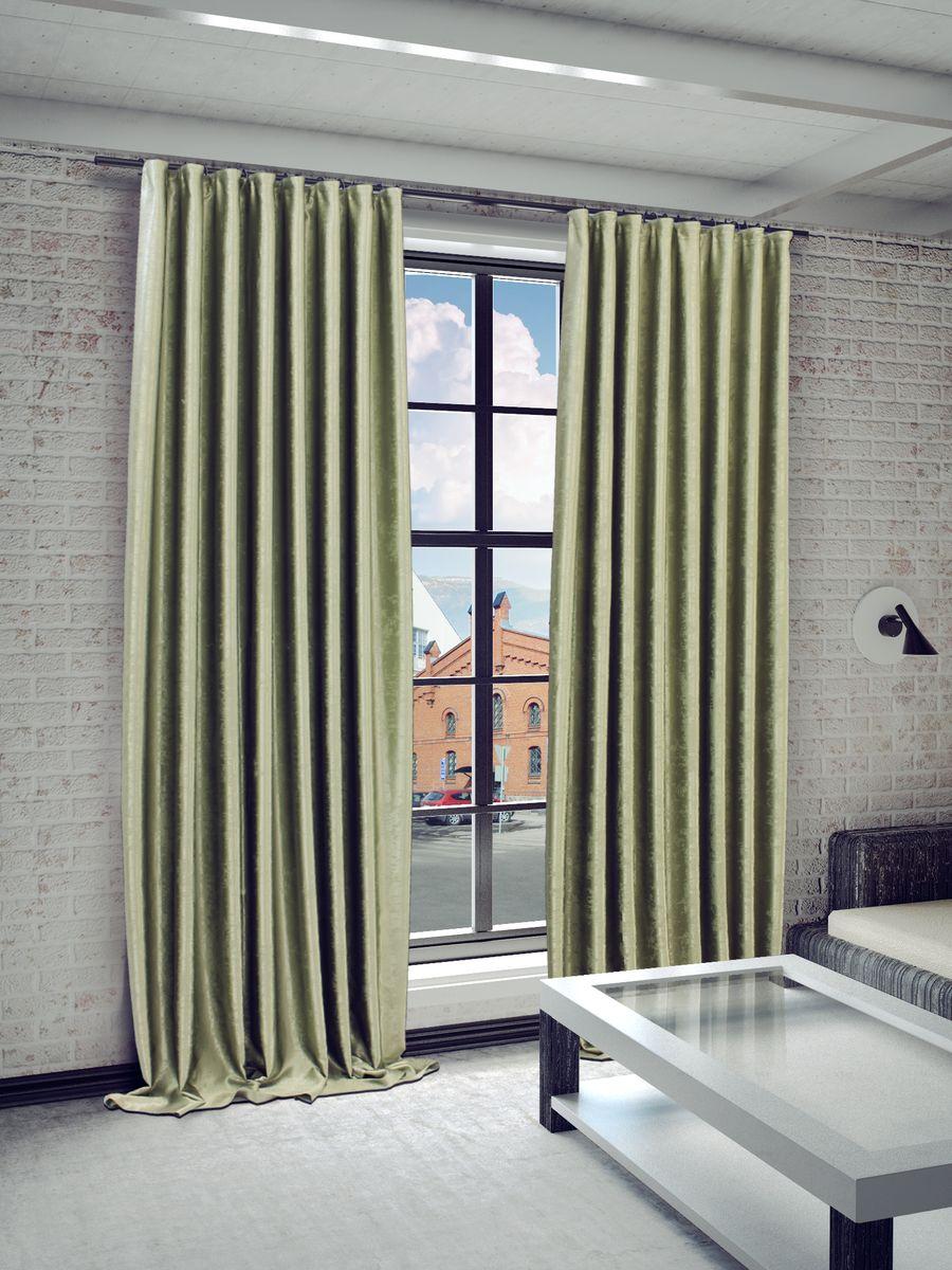 Штора Sanpa Home Collection Жульет, на ленте, цвет: зеленый, высота 270 смHPJULY/6587/1E Жульет зелен., , 170*270 см
