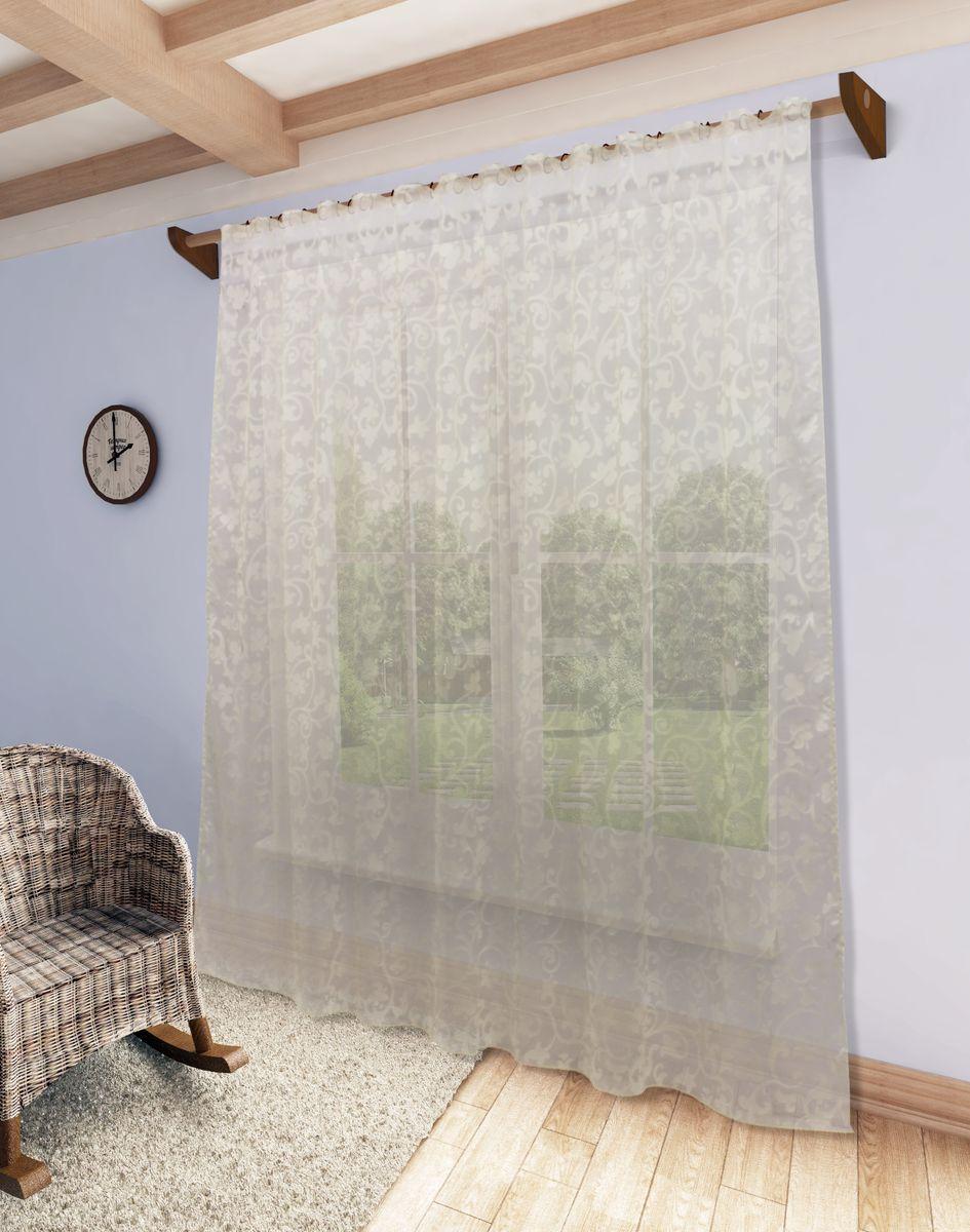 Тюль Sanpa Home Collection Николь, на ленте, цвет: бежевый, высота 280 смHP1206-12/1E Николь беж, , 300*280 см