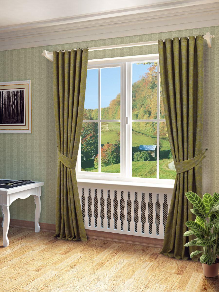 Комплект штор Sanpa Home Collection Вэнди, на ленте, цвет: зеленый, высота 260 смКШВЭНДИ, зеленый, , 150*260-2шт+подхватыКомплект штор Вэнди, выполненный из жаккарда, великолепно украсит любое окно. Комплект состоит из , двух штор и двух подхватов. Оригинальный рисунок и приятная цветовая гамма привлекут к себе внимание и органично впишутся в интерьер помещения. Этот комплект будет долгое время радовать вас и вашу семью! В комплект входит: Штора: 2 шт. Размер (Ш х В): 150 см х 260 см. Подхват: 2 шт.