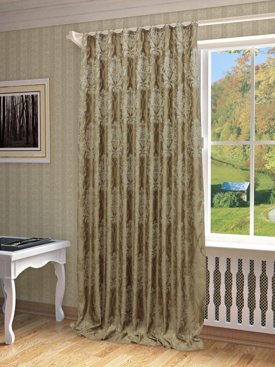 Штора Sanpa Home Collection Джоли, на ленте, цвет: бежевый, высота 280 смHP01304/201/1E Джоли бежевый, , 200*280 смШтора Джоли с оригинальным узором изготовлена из ткани жаккард. Жаккард - одна из дорогостоящих тканей, так как её производство трудозатратно. Своеобразный рельефный рисунок, который получается в результате сложного переплетения на плотной ткани, напоминает гобелен. Крепление к карнизу осуществляется при помощи вшитой шторной ленты.