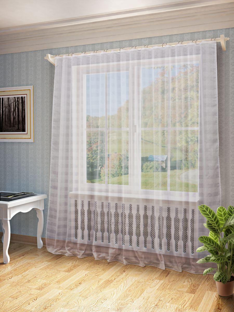 Тюль Sanpa Home Collection Тиана, на ленте, цвет: белый, высота 260 смHP10625/1/1Е Тиана белый, , 300*260 см