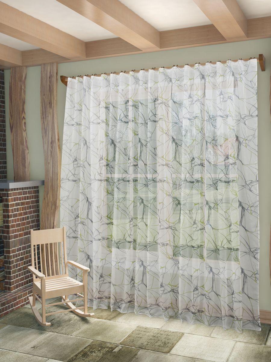 Тюль Sanpa Home Collection Вида, на ленте, цвет: серо-зеленый, высота 260 смHP4229/49/1Е Вида серо-зеленый, , 400*260 см