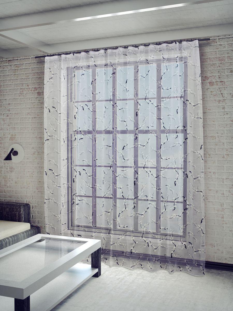 Тюль Sanpa Home Collection Сакура, на ленте, цвет: белый, высота 260 смHP8270/2/1E Сакура белый, , 300*260 смТюль Сакура нежного цвета изготовлена из ткани деворе. Воздушная ткань привлечет к себе внимание и идеально оформит интерьер любого помещения. Деворе - это сложнейшая техника химического травления, при котором ткань приобретает великолепный, поистине волшебный вид. Изысканный атласный или бархатный рисунок буквально парит на матовом или прозрачном фоне, и материал становится лёгким, живым и объёмным. Крепление к карнизу осуществляется при помощи вшитой шторной ленты.
