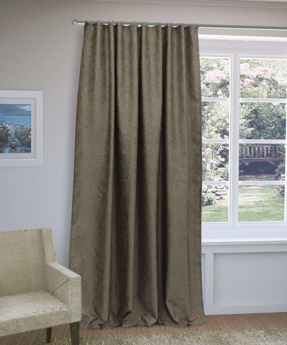 Штора Sanpa Home Collection Викки, на ленте, цвет: коричневый, высота 280 смHP3115/20/1E Викки коричневый, , 200*280 см
