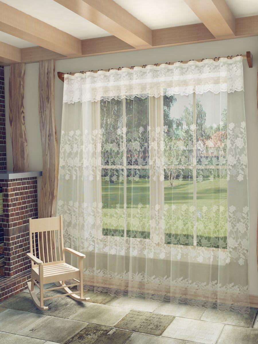 Тюль Sanpa Home Collection Амедея, на ленте, цвет: белый, высота 250 смHP18479/250/1E Амедея белый, , 300*250+ламбрекен
