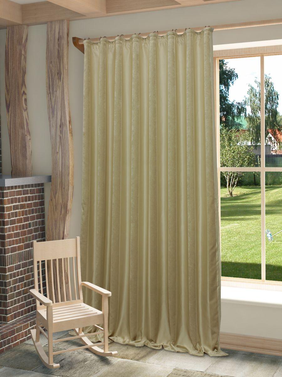 Штора Sanpa Home Collection Хилари, на ленте, цвет: бежевый, высота 270 смHP01251/8/1E Хилари бежевый, , 200*270 см