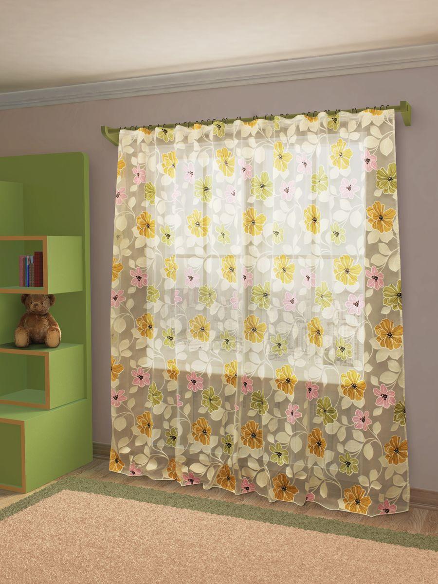 Тюль Sanpa Home Collection Юдора, на ленте, цвет: розовый, зеленый, высота 260 смHP6119/25/1E Юдора розово-зелен, , 300*260 смТюль Юдора нежного цвета изготовлена из органзы. Тюль сделает ваш интерьер более нежным, воздушным и невесомым. Можно драпировать окно только тюлью или только портьерами, но вместе они создают идеальную композицию. Мы рекомендуем под однотонные портьеры нейтральных тонов подбирать сложносочиненную тюль, с изысканной вышивкой и орнаментом, а под портьеры с рисунком или ярких тонов - выбирать тюль с минималистичным рисунком или вообще без него. Крепление к карнизу осуществляется при помощи вшитой шторной ленты.