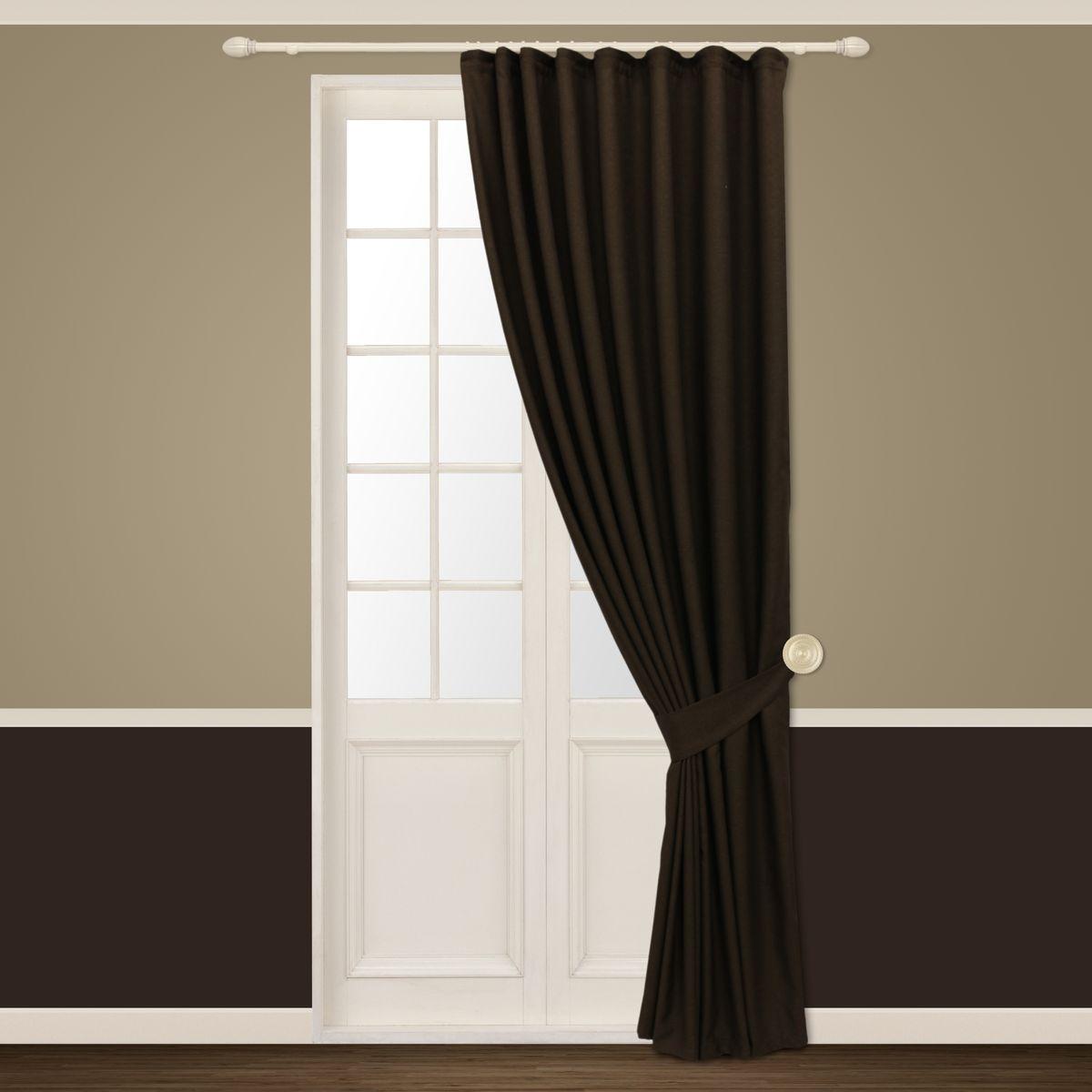Штора Sanpa Home Collection Росария, на ленте, цвет: коричневый, высота 260 смHP01320/14/1E Росария коричневый, , 180*260+1подхват