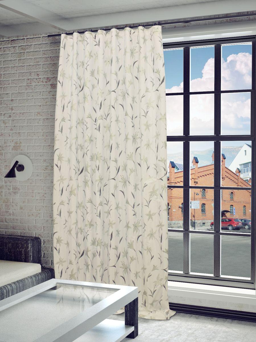 Штора Sanpa Home Collection Антия, на ленте, цвет: белый, серый, высота 280 смHP5170/7100/9/1E Антия белый, , 200*280 смШтора Антия с оригинальным узором изготовлена из тафты. Тафта - разновидность глянцевой плотной тонкой ткани полотняного переплетения из туго скрученных нитей шёлка, хлопка или синтетических органических полимеров (химические волокна). Крепление к карнизу осуществляется при помощи вшитой шторной ленты.