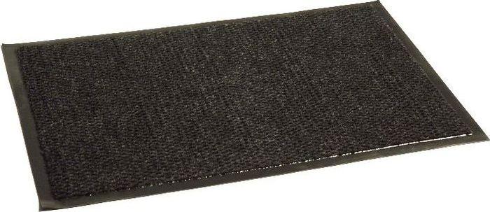 Коврик придверный InLoran Престиж, влаговпитывающий, цвет: черный, 50 х 80 смS03301004Высота покрытия ~10 мм, иглопробивной петлевой ворс, удержание влаги и грязи на 1квадратный метр до 5 кг, материал изготовления - полиамид, винил