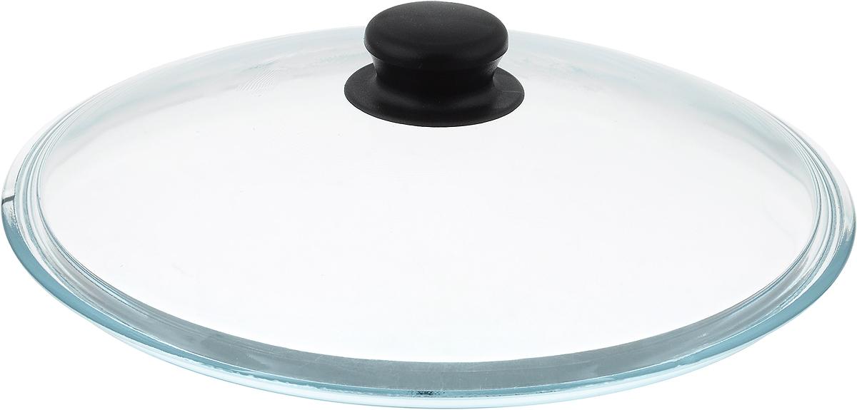 Крышка стеклянная NaturePan. Диаметр 28 см. Л2486Л2486Крышка NaturePan изготовлена из высококачественного жаропрочного стекла. Крышка оснащена удобной ненагревающейся ручкой из пластика. Такая крышка позволит следить за процессом приготовления пищи без потери тепла. Она плотно прилегает к краям посуды, сохраняя аромат блюд. Можно мыть в посудомоечной машине.