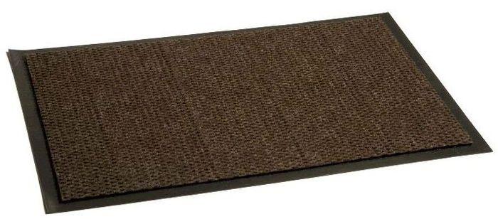 Коврик придверный InLoran Престиж, влаговпитывающий, цвет: коричневый, 40 х 60 смUP210DFВысота покрытия ~10 мм, иглопробивной петлевой ворс, удержание влаги и грязи на 1квадратный метр до 5 кг, материал изготовления - полиамид, винил