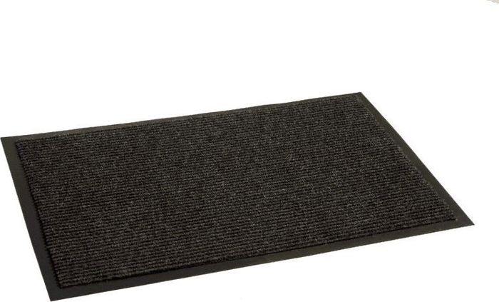 Коврик придверный InLoran Комфорт, влаговпитывающий, ребристый, цвет: черный, 120 х 150 смUP210DFВысота покрытия ~9 мм, иглопробивной ворс, удержание влаги и грязи на 1квадратный метр до 5 кг, материал изготовления - полиамид, винил