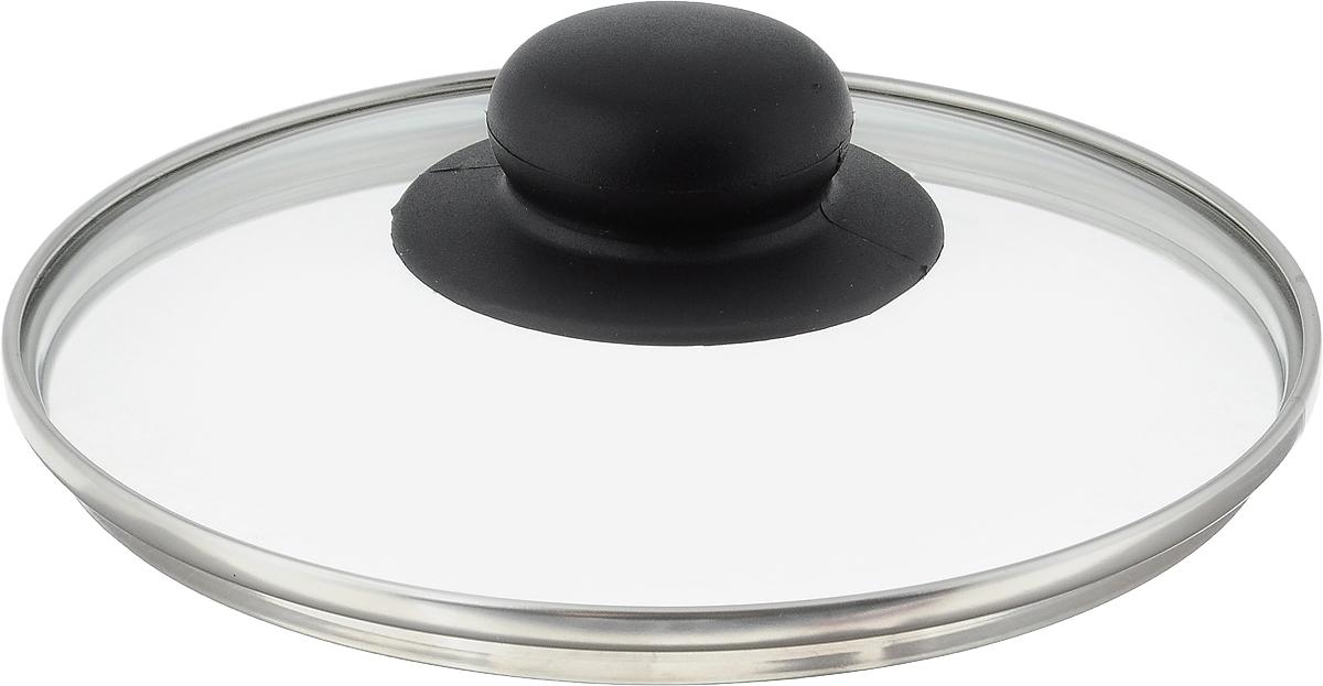 Крышка стеклянная NaturePan. Диаметр 16 см. Л2749Л2749Крышка NaturePan изготовлена из высококачественного жаропрочного стекла. Изделие имеет металлический обод и отверстие для выпуска пара. Крышка оснащена удобной ненагревающейся ручкой из пластика. Такая крышка позволит следить за процессом приготовления пищи без потери тепла. Она плотно прилегает к краям посуды, сохраняя аромат блюд. Можно мыть в посудомоечной машине.