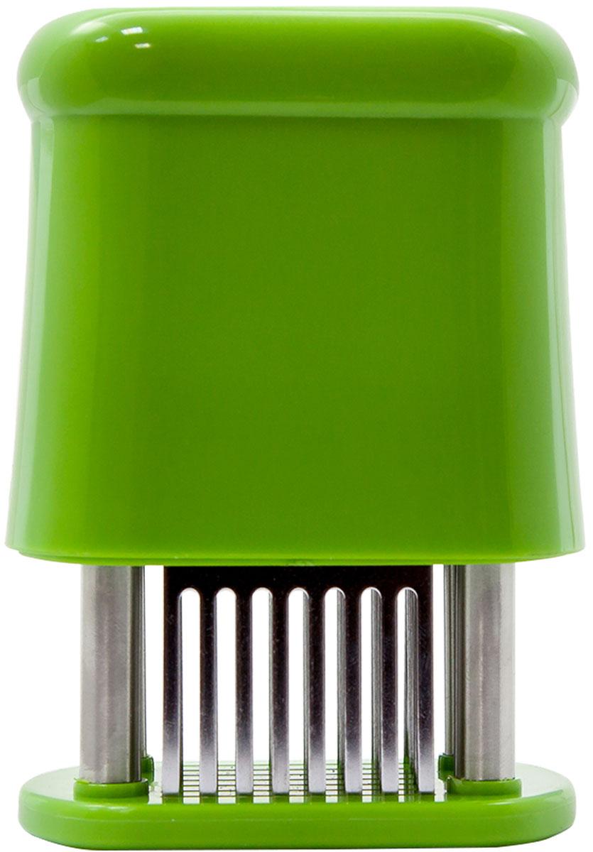 """Тендерайзер для мяса """"Borner"""", прямоугольный, цвет: салатовый 862357"""