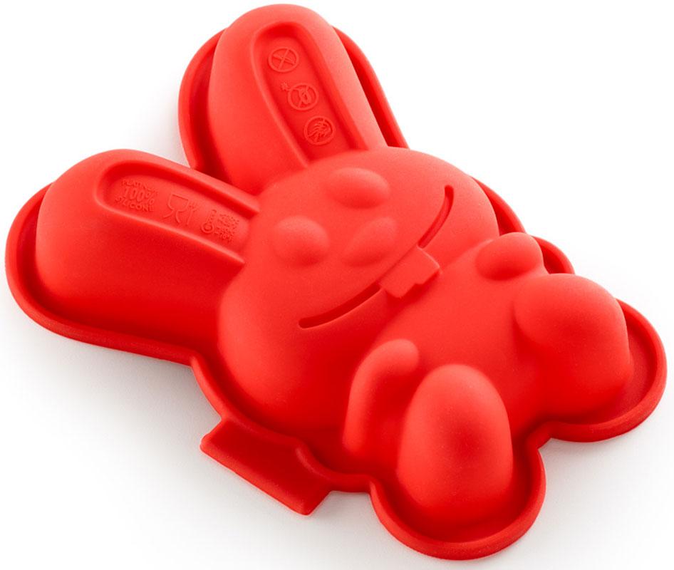Форма для кекса Lekue Зайчик, цвет: красный, 2 шт0210102R01M017Форма изготовлена из чистого силикона, абсолютно инертного медицинского материала. Силикон не вступает ни в какое химическое воздействие с окружающими материалами. Следовательно, ваша пища, изготовленная в форме из силикона, никогда не будет содержать никаких посторонних примесей, что часто случает при приготовлении пищи в посуде из металла. Изделия из силикона выдерживают большие перепады температур от -40 до +250 градусов.