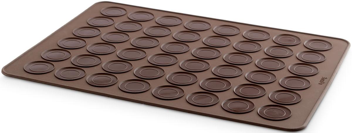 Коврик-трафарет Lekue Макарун, цвет: коричневый, 40 х 30 см0231440M02M067Коврик - трафарет  Макарун 40 х 30 см, представляет собой выполненную из высококачественного силикона поверхность с нанесенными разметками.