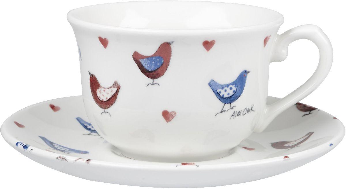 Чайная пара Churchill, 2 предмета. ACLB00051115510Коллекция Птички - уникальное сочетание живой природы и прекрасные воспоминания из детства. Легкий и простой дизайн с пастельными красками идеально подойдет для любой кухни.