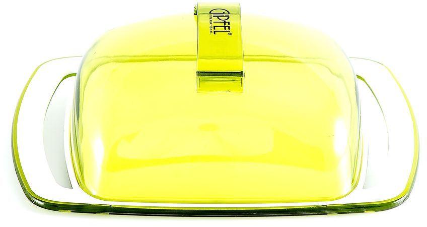 Масленка Gipfel Arco, цвет: зеленый, белый, 18,5 х 11,8 х 6,7 смVT-1520(SR)Посуда Gipfel изготовлена только из качественных, экологически чистых материалов. Также уделяется особое внимание дизайну продукции, способному удовлетворять вкусы даже самых взыскательных покупателей. Сталь 8/10, из которой изготавливается посуда и аксессуары Gipfel, является уникальной. Она отличается высокими эксплуатационными характеристиками и крайне устойчива к физическим воздействиям. Сложно найти более подходящий для создания качественной кухонной посуды материал. Отличительной чертой металлической посуды, выполненной из подобной стали, является характерный сероватый оттенок поверхности и особый блеск. Это позволяет приготовить более здоровую пищу.