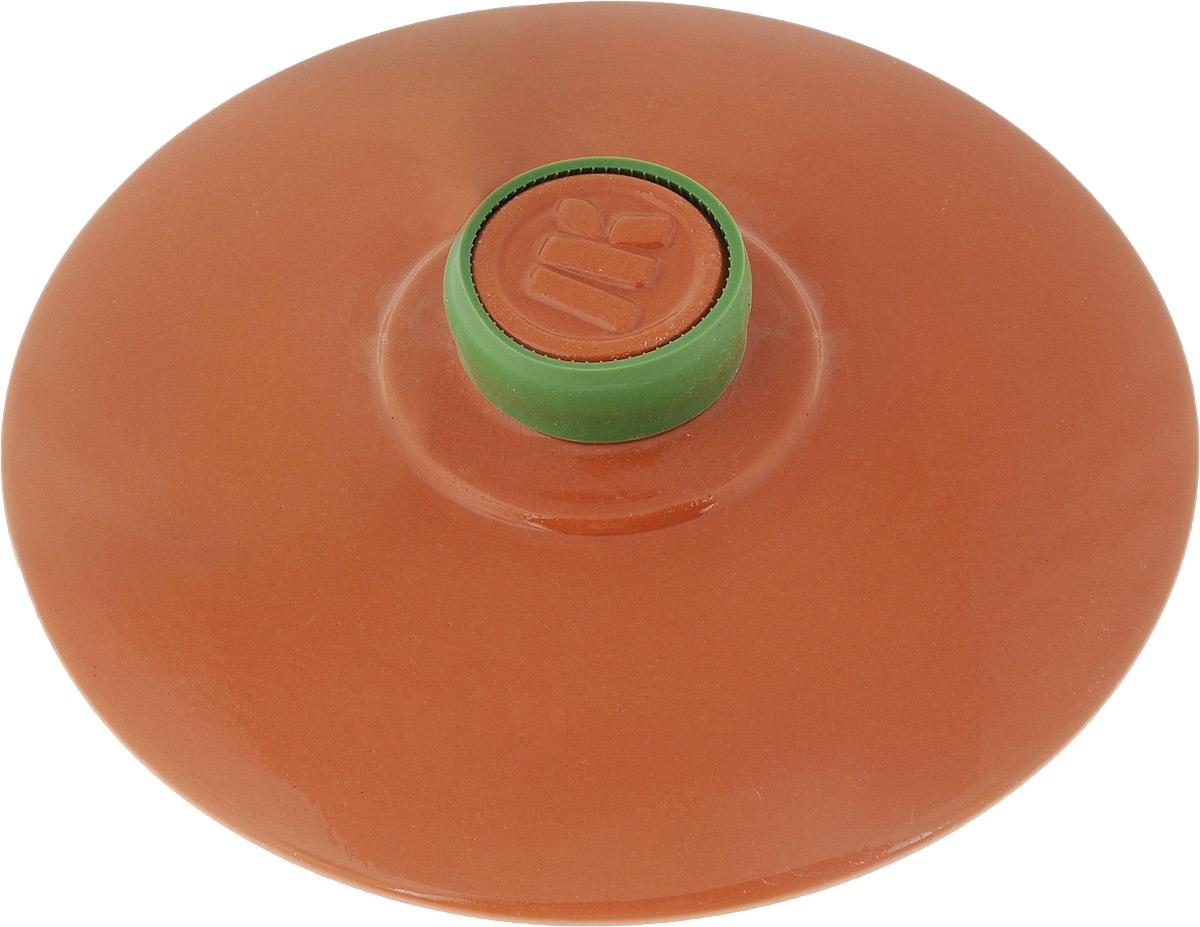 Крышка керамическая Ломоносовская керамика. Диаметр 20 см94672Крышка Ломоносовская керамика изготовлена из высококачественной жаропрочной керамики. Крышка оснащена удобной ручкой с силиконовой накладкой, которая не нагревается.Изделие плотно прилегает к краям посуды, сохраняя аромат блюд. Крышка подходит для кастрюль и сковородок. Можно использовать в микроволновой печи и духовке. Можно мыть в посудомоечной машине.