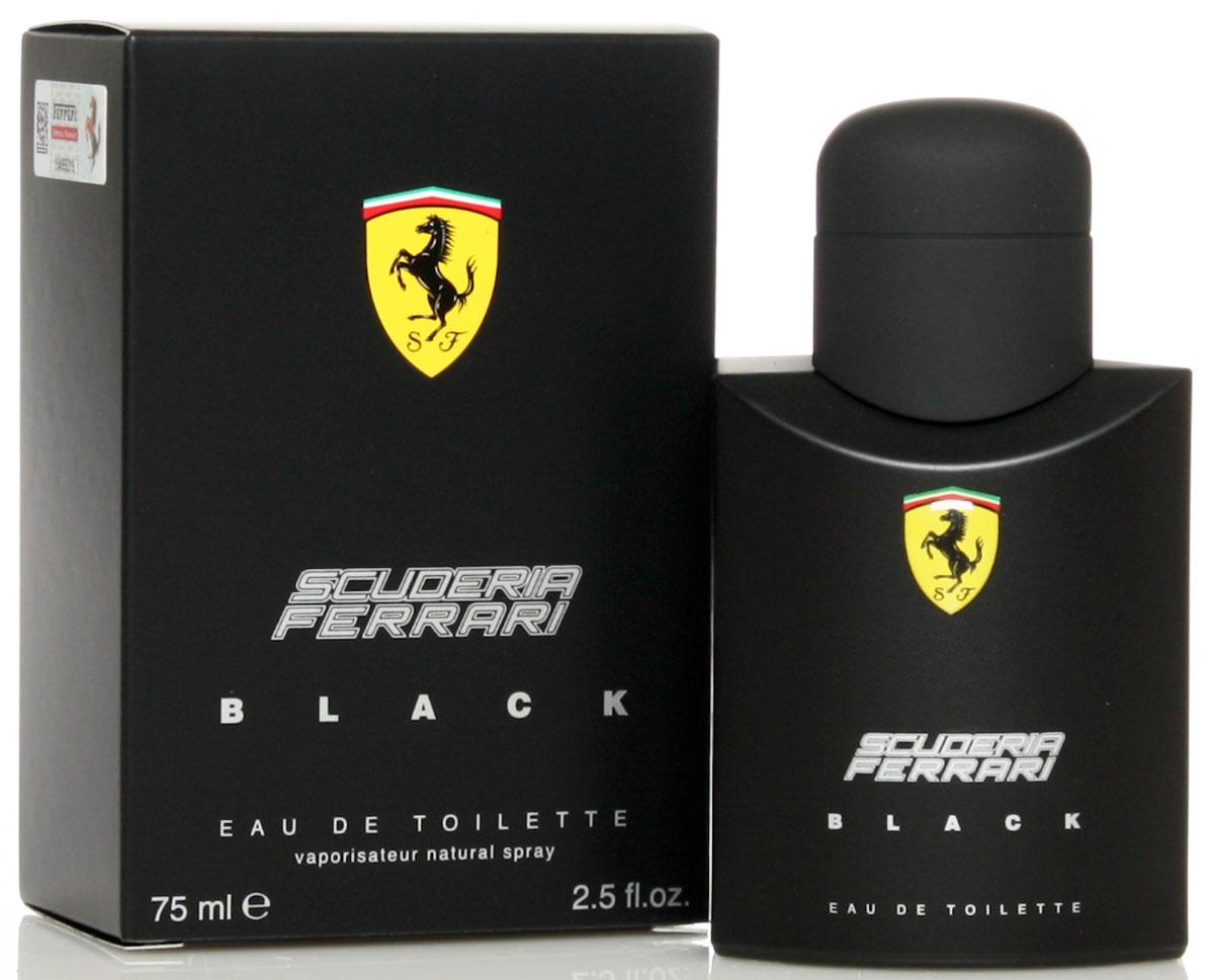 Ferrari Туалетная вода BLACK мужская, 75 мл1301210Scuderia Ferrari Black Ferrari - это аромат для мужчин, принадлежит к группе ароматов фужерные. Scuderia Ferrari Black выпущен в 2013. Верхние ноты: Цитрусы, лайм, Бергамот, Зеленое яблоко и слива; ноты сердца: кардамон, Корица, роза и Жасмин; ноты базы: Белый кедр, Амбра, Мускус и Ваниль.