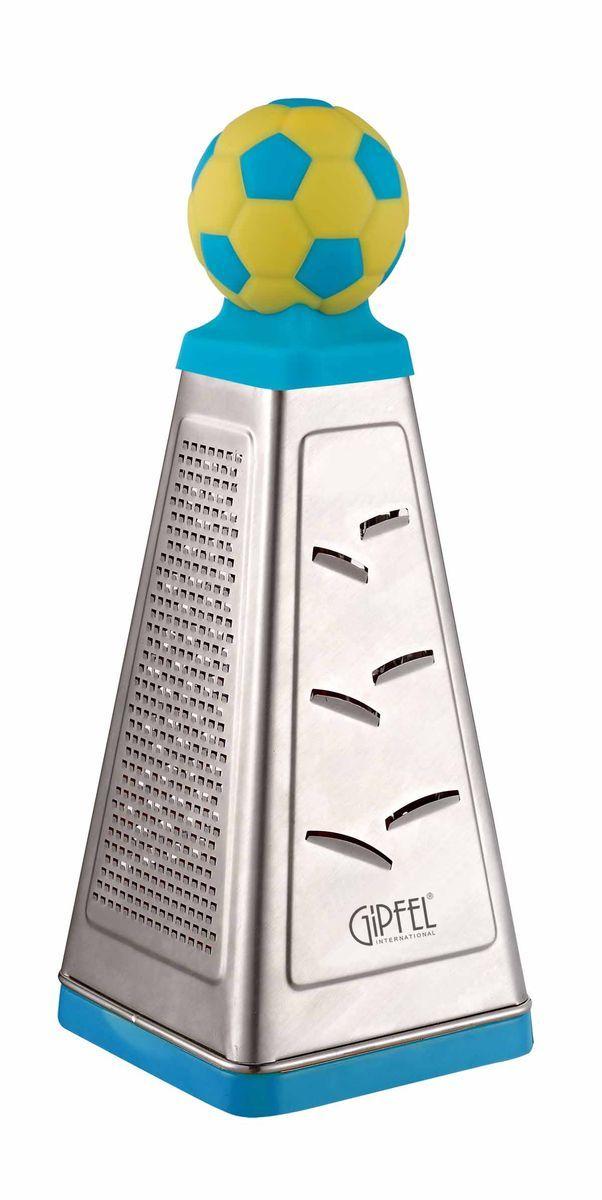 Терка Gipfel Gol, цвет: голубой, 10 х 10 х 26 см9782Посуда Gipfel изготовлена только из качественных, экологически чистых материалов. Также уделяется особое внимание дизайну продукции, способному удовлетворять вкусы даже самых взыскательных покупателей. Сталь 8/10, из которой изготавливается посуда и аксессуары Gipfel, является уникальной. Она отличается высокими эксплуатационными характеристиками и крайне устойчива к физическим воздействиям. Сложно найти более подходящий для создания качественной кухонной посуды материал. Отличительной чертой металлической посуды, выполненной из подобной стали, является характерный сероватый оттенок поверхности и особый блеск. Это позволяет приготовить более здоровую пищу.
