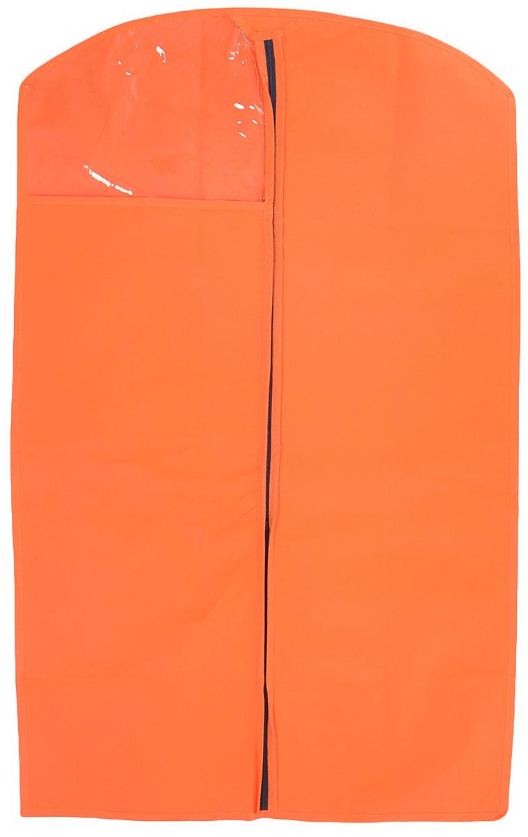 Чехол для одежды LarangE, с окошком, цвет: оранжевый, 100 х 60 см625-421_оранжевыйЧехол для одежды LarangE изготовлен из спанбонда и оснащен застежкой-молнией. Особое строение полотна создает естественную вентиляцию: материал дышит и позволяет воздуху свободно проникать внутрь чехла, не пропуская пыль. Прозрачное окошко позволяет видеть содержимое чехла. Чехол для одежды будет очень полезен при транспортировке вещей на близкие и дальние расстояния, при длительном хранении сезонной одежды, а также при ежедневном хранении вещей из деликатных тканей. Чехол для одежды LarangE защитит ваши вещи от повреждений, пыли, моли, влаги и загрязнений.
