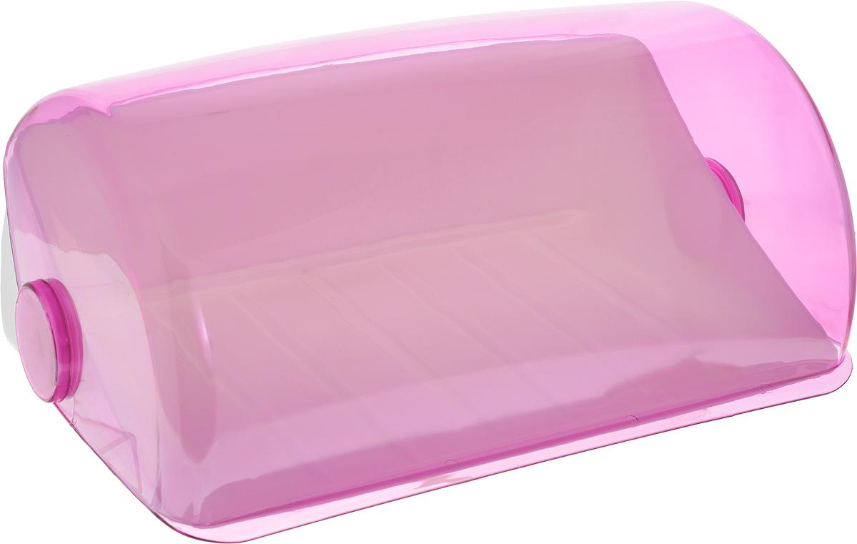 Хлебница Giaretti, цвет: фиолетовый, 39,5 х 25 х 17,7 смVT-1520(SR)Хлебница Giaretti, изготовленная из высококачественного пластика, прекрасно сохранит хлеб свежим, а также украсит вашу кухню. Хлебница не поглощает запахов и не окрашивается. Крышка плотно и легко закрывается. Стильная хлебница прекрасно впишется в интерьер кухни,универсальная форма хлебницы удобна и практична в использовании.