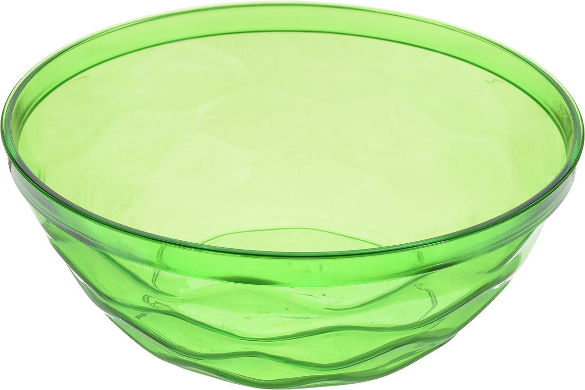 Салатник Giaretti Riva, цвет: зеленый, 4 л115610Салатник Giaretti Riva выполнен из высококачественного пластика и оформлен оригинальной рельефной поверхностью. Он прекрасно впишется в интерьер вашей кухни и станет достойным дополнением к кухонному инвентарю. Диаметр салатника (по верхнему краю): 27 см.Высота стенки: 10,3 см.