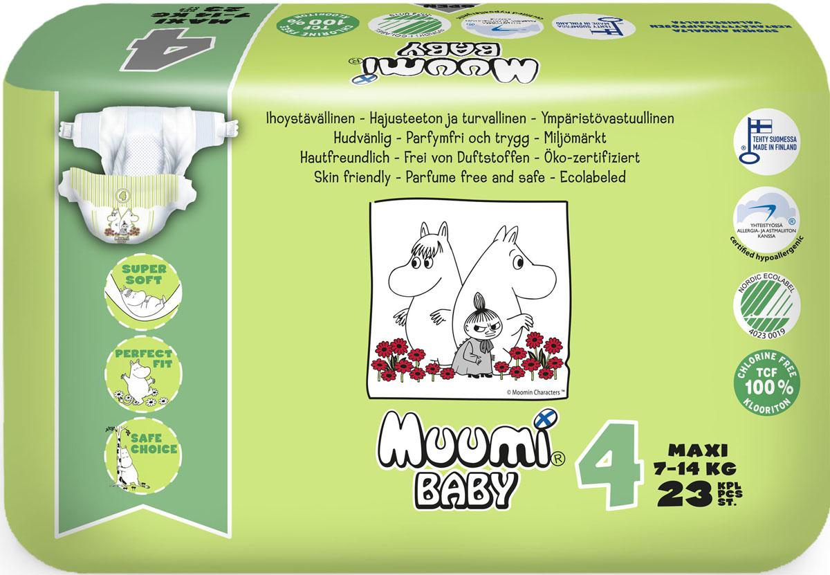 Muumi Baby Подгузники детские Макси (размер 4) 7-14 кг 23 шт 58780