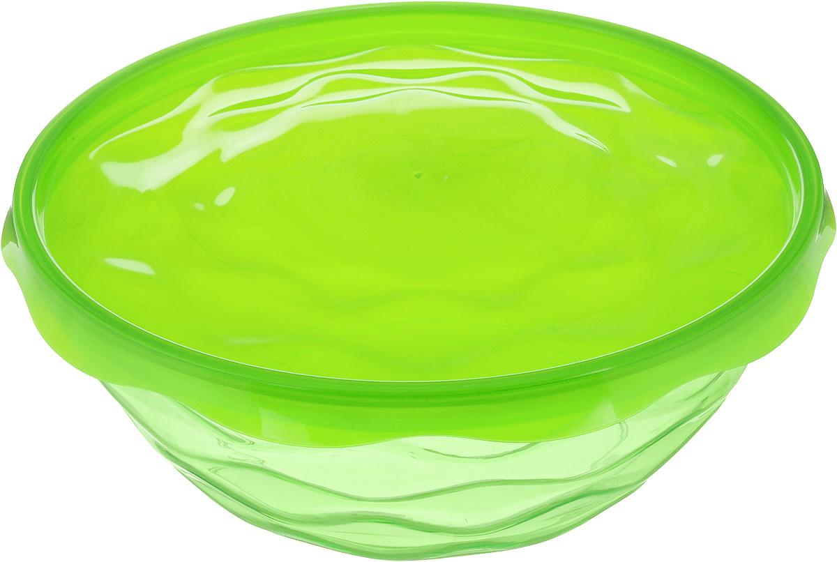 Салатник Giaretti Riva, с крышкой, цвет: салатовый, 2,5 л115610Салатник Giaretti Riva выполнен из высококачественного пластика и оформлен оригинальной рельефной поверхностью. Изделие оснащено крышкой для лучшего сохранения приготовленной пищи. Он прекрасно впишется в интерьер вашей кухни и станет достойным дополнением к кухонному инвентарю. Диаметр салатника (по верхнему краю без учета крышки): 22 см. Высота салатника (без учета крышки): 8,5 см.