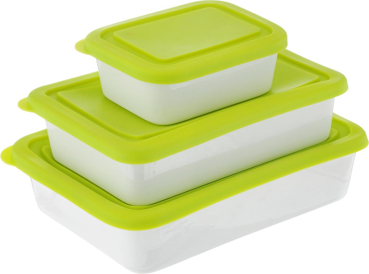 Набор форм Oursson, с крышками, цвет: салатовый, белый, 3 предмета94672Форма Oursson состоит из трех форм, выполненных из керамики с глазурованным покрытием. Изделия оснащены силиконовыми крышками. Стенки изделий быстро распространяют тепло и выпечка пропекается равномерно. Готовый продукт легко вынимается из форм, а их чистка не доставит вам особого труда. Такие формы созданы, чтобы пробуждать кулинарную фантазию и удовлетворять творческие кулинарные порывы. Подходит для использования в микроволновой печи. Можно мыть в микроволновой печи.Рабочая температура: от -20 до +220°С.Объем форм: 0,25 л; 0,6 л; 0,86 л. Размеры форм: 9 х 12 см; 12 х 18,5 см; 14 х 21 см. Высота стенки: 4,5 см; 5 см.
