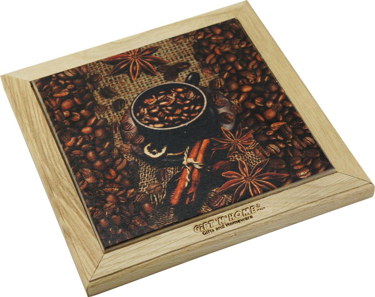 Подставка под горячее Giftnhome Кофе-Мокка, 44 х 20 смWTR-CoffeПодставка из ценных пород древесины, дуб/ бук , с декоративной вставкой из качественной фанеры, с нанесением цветных фотопринтов. Данный товар несет двойную потребительскую функцию, обеспечивая декоративное и хозяйственное назначение. Он может быть использован для украшения помещений в качестве настенного панно и как подставка под горячую посуду.