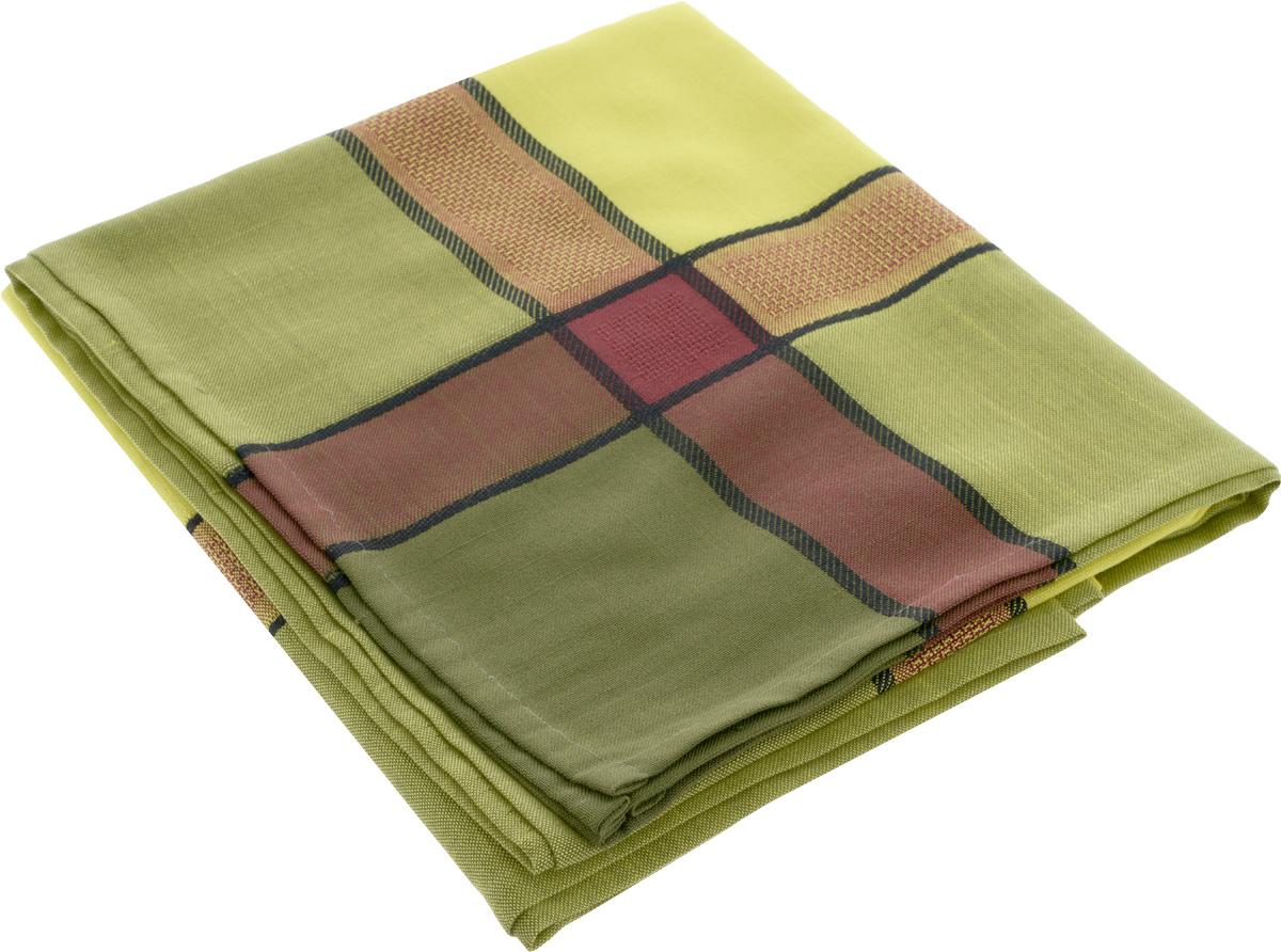 Скатерть ТД Текстиль, прямоугольная, цвет: фисташковый, 120 х 160 см531-401Жаккардовая скатерть ТД Текстиль прямоугольной формы, выполненная из полиэстера, станет изысканным украшением кухонного стола. За текстилем из полиэстера очень легко ухаживать: он не мнется, не садится и быстро сохнет, легко стирается, более долговечен, чем текстиль из натуральных волокон.Использование такой скатерти сделает застолье торжественным, поднимет настроение гостей и приятно удивит их вашим изысканным вкусом. Также вы можете использовать эту скатерть для повседневной трапезы, превратив каждый прием пищи в волшебный праздник и веселье. Это текстильное изделие станет изысканным украшением вашего дома!