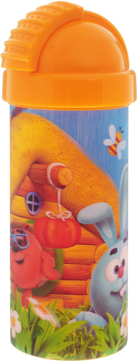 Смешарики Стакан детский с крышкой и трубочкой 400 млSMF400-01Детский стакан Смешарики непременно станет любимым стаканчиком малыша. Стакан выполнен из прочного безопасного полипропилена и оформлен изображением героев мультсериала Смешарики. Благодаря безопасному материалу, стакан подойдет для любых напитков. Стакан имеет съемную крышку со сдвигающейся заслонкой, под которой расположена гибкая силиконовая трубочка для удобства питья. Объем стакана: 400 мл. Не подходит для использования в посудомоечной машине и СВЧ-печи.