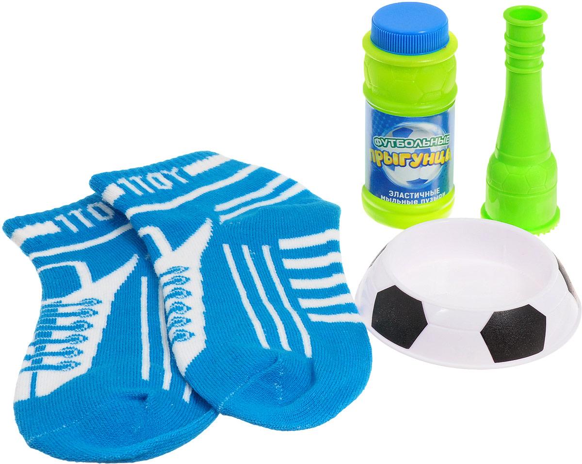 1TOY Мыльные пузыри Футбольные Прыгунцы цвет голубой белый Размер 30-39 Т59342_ голубой, белый