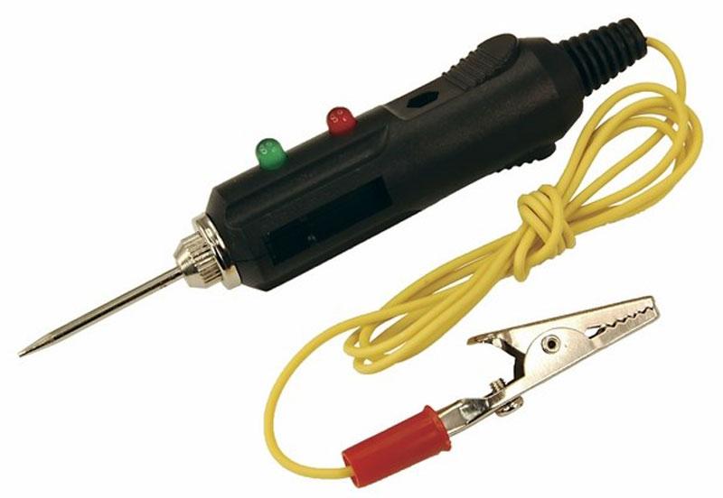 Автотестер универсальный Rexant. 16-010216-0102Автотестер универсальный черный REXANT предназначен для быстрой и эффективной диагностики электрооборудования автомобилей. Позволяет определить полярность напряжения (+/-), выявить замыкание и обрыв проводки или проверить предохранители, лампочки и диоды. Корпус выполнен из ударопрочного пластика и снабжен проводом с зажимом типа крокодил, светодиодным и звуковым индикатором.