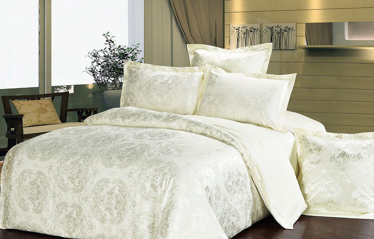 Комплект белья Versailles Элеонора, 2-спальный, наволочки 70x70, цвет: желтыйS03301004Комплект постельного белья Versailles изготовлен из сатина, сотканного из хлопка с добавлением вискозных волокон. Белье дарит приятные тактильные ощущения на протяжении всего сна, а уникальные жаккардовые узоры придают танки мягкий блеск и обеспечивают материалу особую прочность. Постельное белье Versailles - отличный подарок на любое торжество и идеальный выбор для взыскательных покупателей. Комплект состоит из пододеяльника, простыни и двух наволочек. Состав: хлопок 70%, вискоза 30%