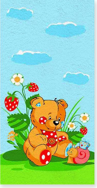 Полотенце махровое ВТ Забавный мишка, цвет: синий, 60 х 120 см. м1053_0173103