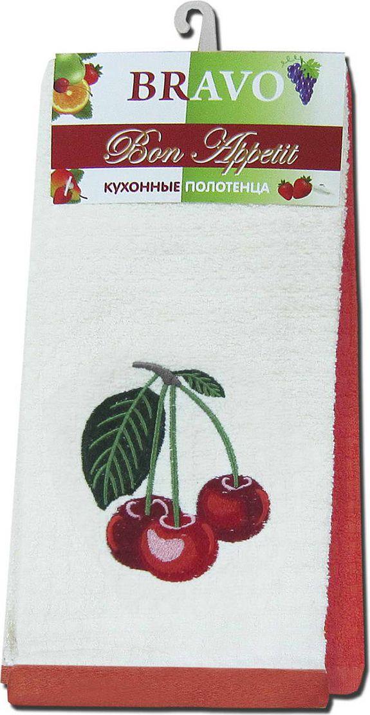 Набор махровых полотенец НВ Бон Аппетит, цвет: красный, 40 х 60 см, 2 шт. м0632_1580501