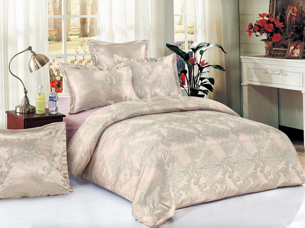Комплект белья Versailles Пальмира, евро, наволочки 50x70, цвет: розовыйS03301004Комплект постельного белья Versailles изготовлен из сатина, сотканного из хлопка с добавлением вискозных волокон. Белье дарит приятные тактильные ощущения на протяжении всего сна, а уникальные жаккардовые узоры придают танки мягкий блеск и обеспечивают материалу особую прочность. Постельное белье Versailles - отличный подарок на любое торжество и идеальный выбор для взыскательных покупателей. Комплект состоит из пододеяльника, простыни и четырех наволочек. Состав: хлопок 70%, вискоза 30%