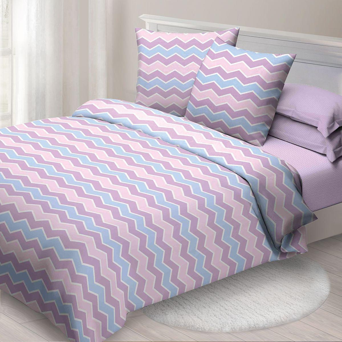 Комплект белья Спал Спалыч Лавандовые сны, евро, наволочки 70x70, цвет: розовый. 4089-185085